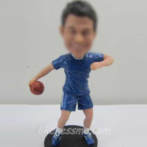 Basketball player bobbleheads