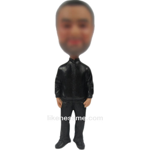 all black bobbleheads
