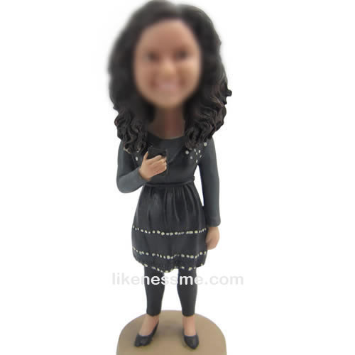 bobble head doll of Casual girl