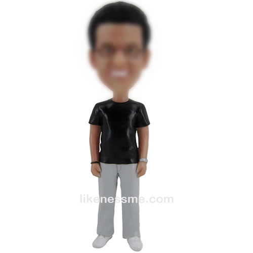 bobble head doll of Casual man