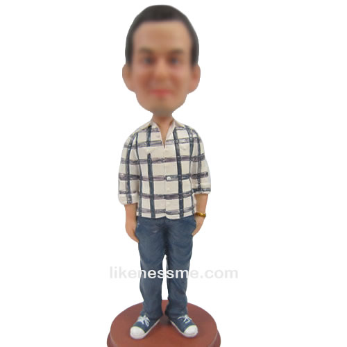 casual bobblehead doll