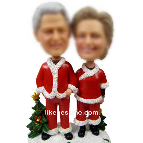 Custom Christmas Wedding bobbleheads
