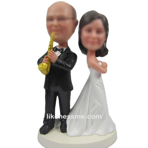 Custom music Wedding cake toppers