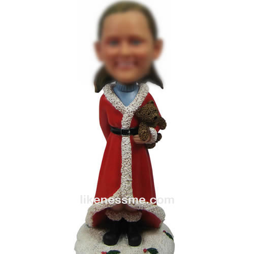 Custom Santa Claus bobble head