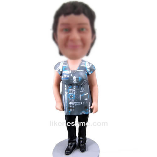 professional bobble head doll of Casual woman