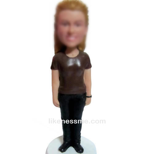 professional Casual girl bobbleheads