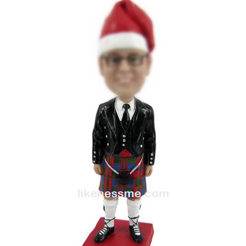 professional Christmas hats bobbleheads