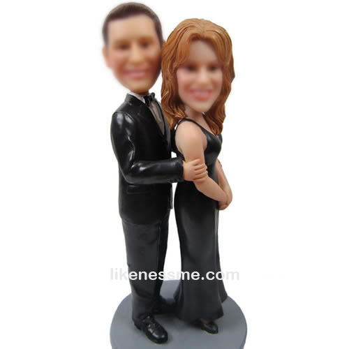 professional Custom bobbleheads of black dress