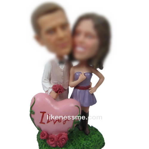 professional Custom bobbleheads of love story