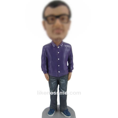 professional Purple shirt bobbleheads