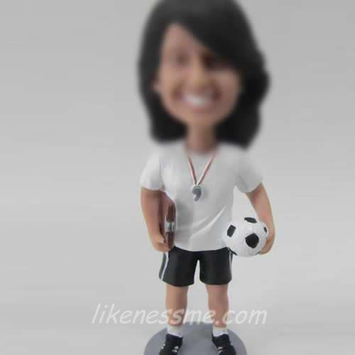 Female football coach bobble