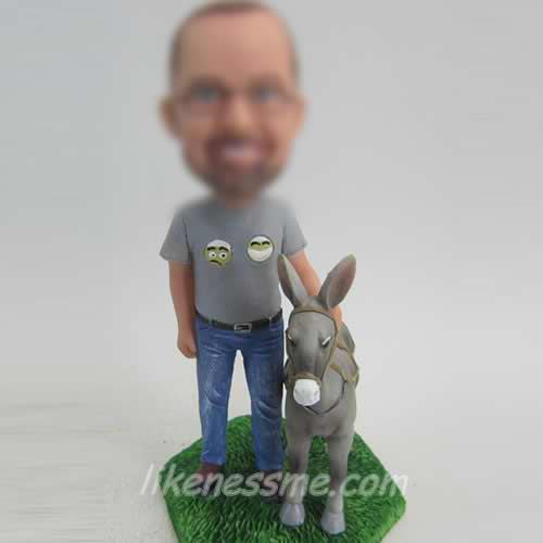 man with Donkey bobble