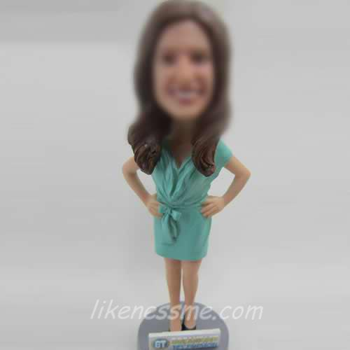 professional custom Casual woman bobblehead dolls