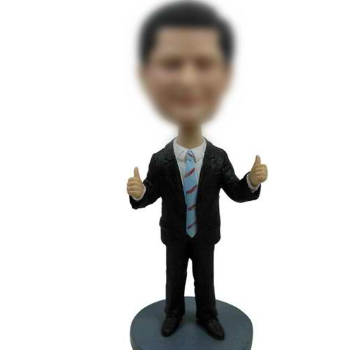 Professionalcustom Man In Suit Bobbleheads 12 Inch