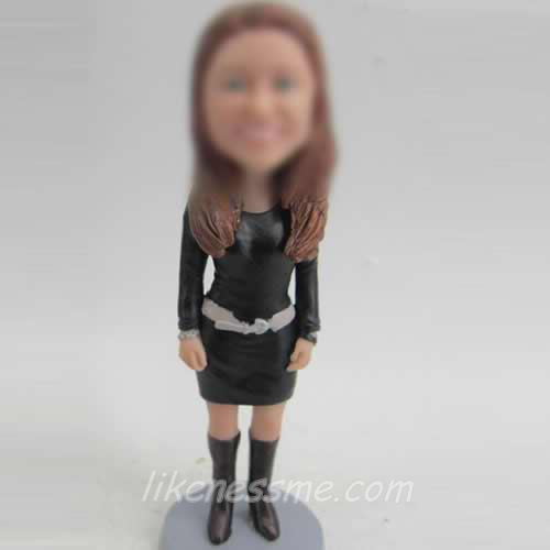 woman in dress bobble